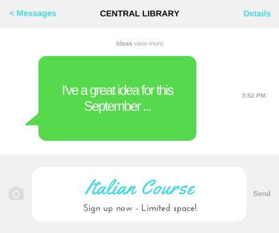 Italian Course Southampton Central library