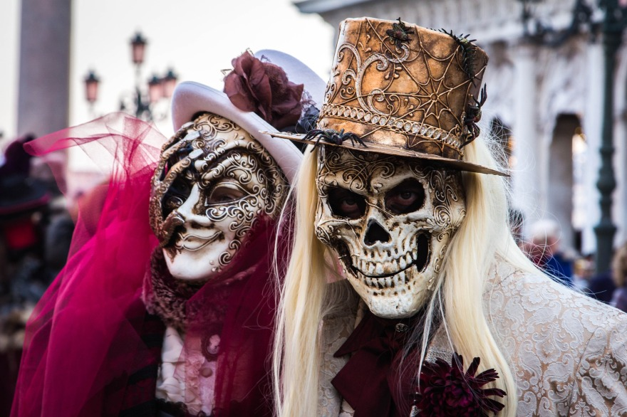 picture of masks at Venice Carnival best things about living in Italy