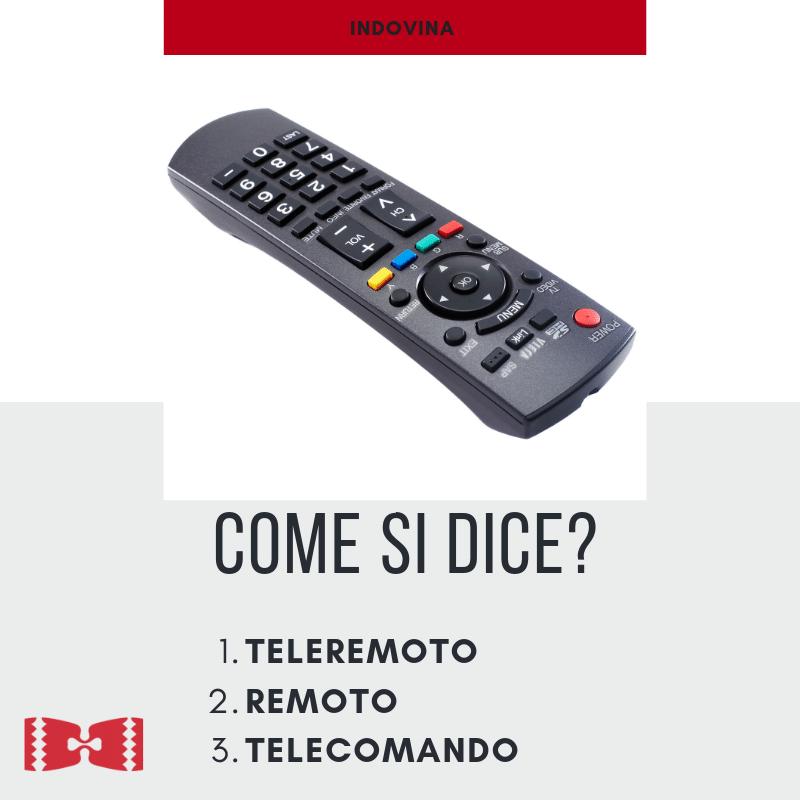 remote in italian