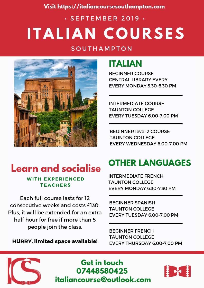 ICS italian courses southampton